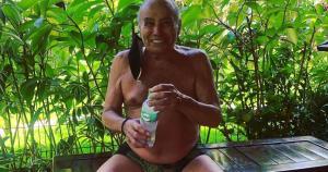 Natural de Mimoso do Sul, no Espírito Santo, ator fez post desabafando sobre isolamento, vacina da Covid-19 e atividade física no Instagram da esposa, Mari Saade