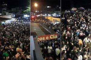 Multidão se reúne no balneário de Iriri pela segunda noite consecutiva; moradores também reclamam de som alto durante toda a madrugada