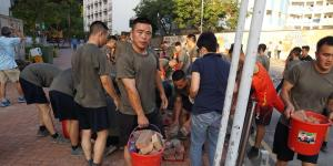 Mainland Chinese Soldiers Take to Hong Kong Streets for First Time Since Protests Began