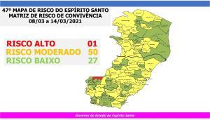 O mapa foi divulgado no início da noite desta sexta-feira (05) e tem validade entre os dias 08 e 14 de março