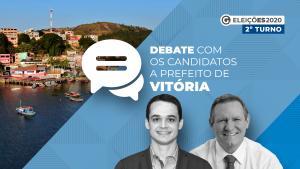 Delegado Pazolini (Republicanos) e João Coser (PT) frente a frente no debate A Gazeta e CBN Vitória