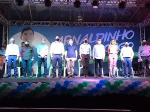 Chapa com 26 vereadores também foi anunciada durante convenção do partido, realizada em modelo drive-in. Vice deve ser indicado por outro partido