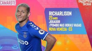 O jogador teve o nome vinculado ao programa nas redes sociais e brincou com o perfil brasileiro oficial do Everton, que o escalou para o reality show global