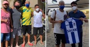 Atacante da seleção brasileira ajuda a promover o SUS e o futebol capixaba em Nova Venécia