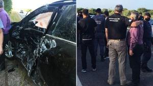 Um caminhão-baú atingiu o carro em que estavam o secretário Alexandre Ramalho, o prefeito de Presidente Kennedy, Dorley Fontão, e mais duas pessoas na tarde desta quinta-feira (29)