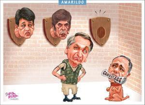 Confira a charge do Amarildo de 25/10/2020