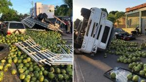 Segundo o Corpo de Bombeiros, o motorista apresentava sintomas de embriaguez e abandonou o local antes da chegada da Polícia Militar