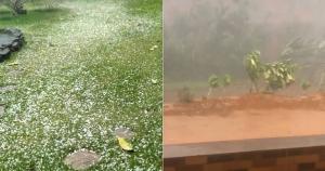 Alerta de tempestade do Instituto Nacional de Meteorologia (Inmet) já previa chuva de granizo em Santa Leopoldina e Domingos Martins, onde fenômeno ocorreu na tarde desta quinta (7)