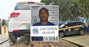 Cleberson Rodrigues Vieira é um dos cinco detentos que fugiram da Penitenciária Estadual de Vila Velha III, no Complexo do Xuri, em outubro de 2015; ele foi parado pela PRF em uma abordagem na BR 101