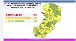 Além do aumento de cidades em amarelo no mapa, o Estado volta a ter, depois de quase três meses, um município em vermelho