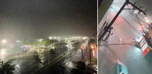 Vídeos e fotos enviados por leitores de A Gazeta mostram os alagamentos em vários pontos da região, como Centro de Vitória e acesso à Terceira Ponte na noite deste domingo (7)