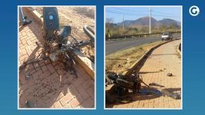 Vítima se envolveu em uma colisão com um carro, que seguia no sentido contrário da rodovia, na manhã desta quarta-feira (11). Motorista foi ouvido pela polícia e liberado