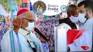 Durante homilia no Campinho do Convento, o arcebispo da Arquidiocese de Vitória, Dom Dario Campos, conclamou os fiéis a seguirem o exemplo de Maria nestes tempos difíceis de pandemia