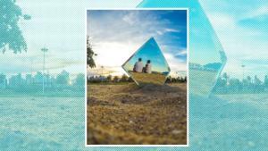 A foto ilusão instiga a mente e cria um momento extrovertido e criativo!