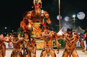 Mostra acontece no Shopping Boulevard, em Vila Velha, até 28 de fevereiro. Evento serve para mostrar a força do carnaval, mesmo com a pandemia da Covid-19