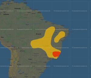 Inpe emitiu um aviso especial de condições favoráveis para chuvas volumosas que podem chegar a 100 milímetros. A validade do alerta se prolonga até as 9h desta quinta-feira (24). Inmet também está com aviso vigente para o ES