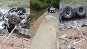 Segundo a Polícia Militar, o acidente aconteceu no fim da manhã desta quarta-feira (22) na rodovia que liga o município a Mantena, em Minas Gerais. O motorista não se feriu