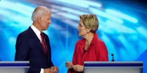 Biden, Warren Gain in Latest Poll of Democratic Primary Voters