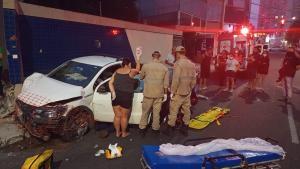 Ele e a motociclista foram socorridos em estado grave; Guarda Municipal, Samu, Corpo de Bombeiros e Polícia Militar foram acionados para a ocorrência
