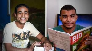 Pedro e Ezequiel compartilharam aprendizado e dúvidas através de um aplicativo de voz. Os dois foram aprovados no curso de Medicina da Universidade de São Paulo (USP)