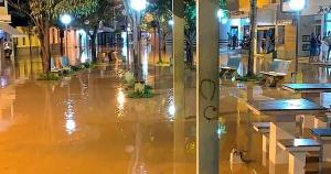 A chuva que atingiu o município causou alagamentos, além de quedas de árvores e barreiras. Em Bom Jesus do Norte, mais de 200 pessoas estão fora de casa