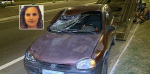 O veículo seguia na faixa da direita, no sentido Viana, quando foi atingido na traseira por um caminhão. Com o impacto, o carro subiu no canteiro, atropelou duas pessoas e só parou na pista contrária