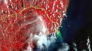 Fotos mostram impacto causado pela lama de rejeitos de mineração, que atingiu o Rio Doce após rompimento de uma barragem de rejeitos de mineração, em 2015