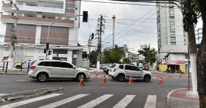 Ainda não se sabe o motivo para o não funcionamento dos sinais de trânsito, Guarda Municipal informou que agentes estão no local para orientar o fluxo do trânsito