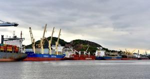 O terminal que integra o Porto de Vitória estava totalmente ocupado na tarde desta terça-feira (20), como registrou o fotógrafo de A Gazeta Fernando Madeira