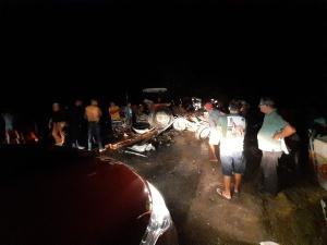 A colisão envolveu um trator e dois carros de passeio. Um adolescente de 14 anos foi socorrido em estado grave para um hospital em São Mateus