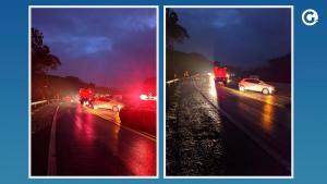 Segundo informações da Polícia Rodoviária Federal (PRF), a via chegou a ficar interditada, mas foi totalmente liberada por volta de 7h50