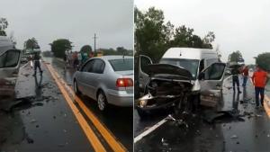 Criança que estava no carro foi a única que saiu ilesa; vítimas foram encaminhadas ao Hospital Roberto Arnizaut Silvares