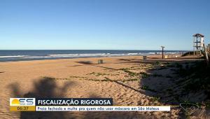O valor da multa é estabelecido pela Unidade de Referência de São Mateus (UFSM). A prefeitura decretou o fechamento da praia de Guriri durante o feriadão