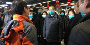China's Premier Tours Virus Epicenter as Anger Bubbles at Crisis Response