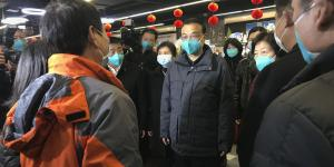 China's Premier Tours Virus Epicenter as Anger Bubbles at Crisis Response