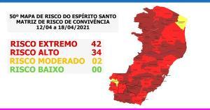 Mais cinco municípios passam a integrar o maior nível de risco de transmissão da Covid-19 no Estado e, assim, também terão novas restrições em atividades