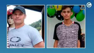 Jair Marconcini Mozer, 41 anos, e Adriano Pizetto, 18 anos, morreram na tarde desta quinta-feira (25)