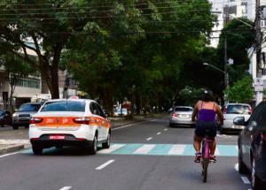 Após audiência pública, participantes votaram mais uma vez em projeto que a comunidade já havia apresentado, com área para ciclistas no canteiro central e vagas à direita da pista