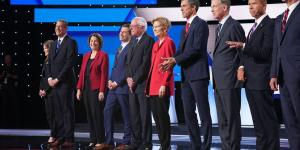 Democratic Leaders Aren't Weeping for Those Who Miss Debate Cut