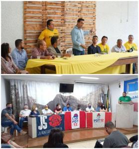 O prefeito Juninho é do Cidadania e já está no segundo mandato consecutivo. Já o atual vice-prefeito, Niltinho Basílio (PDT), desistiu de disputar o comando do Executivo municipal