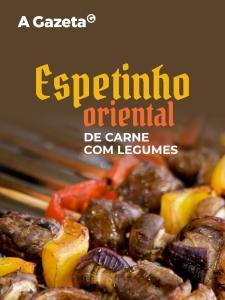 Aprenda a preparar espetinho oriental de carne e legumes
