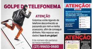 Bandidos estão se passando por parlamentares ou suas assessorias e pedindo dinheiro, em nome deles, pelo telefone ou pelo WhatsApp