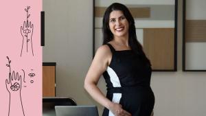 Ela descobriu a gestação aos dois meses quando participava de um processo seletivo para o cargo de diretora. Segundo a executiva, maternidade nunca foi obstáculo para a carreira
