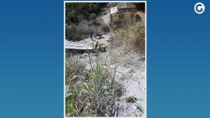 O veículo capotou na BR 482, no trecho conhecido como 'Alto da Serra'. O caminhão caiu em uma ribanceira e a cabine ficou totalmente destruída