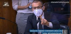 Deputado federal Osmar Terra criticou a atuação do governador do Espírito Santo por decretos de restrição adotados na pandemia de Covid-19, durante depoimento à comissão nesta terça-feira (22)