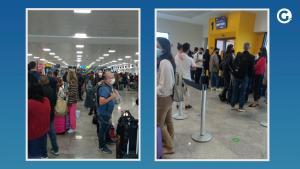 O voo G3 1393, da Gol, estava previsto para decolar às 5h15 desta quarta-feira (20). Medida desagradou passageiros