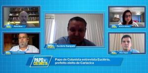 Prefeito eleito de Cariacica, Euclério Sampaio (DEM) participou do Papo de Colunista, de A Gazeta, e citou o nome do provável local que deve concentrar pacientes com a doença