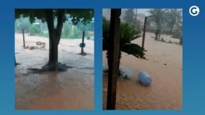 Segundo a Defesa Civil Municipal, choveu 102 mm em 6 horas. A força da água alagou casas e causou destruição em ruas na localidade do Assentamento Ita