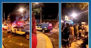 A equipe foi acionada pelo Ciodes, devido à aglomeração que ocorria praça do bairro São Luiz Gonzaga, na noite deste domingo (28)
