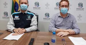 Os secretários Nésio Fernandes e Vitor de Angelo fizeram transmissão on-line na manhã desta quarta-feira (26); acompanhe